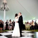 black and white dance floor