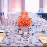 orange and grey table