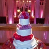 Wedding cake with floral tiers