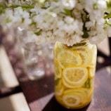Floral with Lemon Filled Vase
