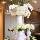 white floral – open house