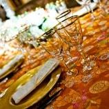 orange oriental linen