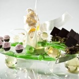 Miniature Pastries on Sugar Sculpture