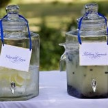Drink Canisters with Blueberry Lemonade