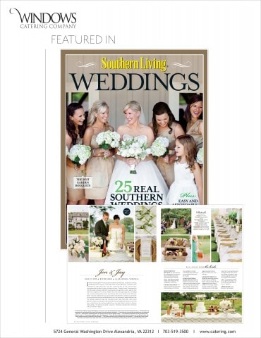 featured in southern living weddings windows catering company