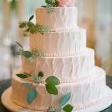 Rustic Winery Wedding Cake at Morais Vineyards
