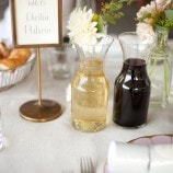 Wine Carafes at Table