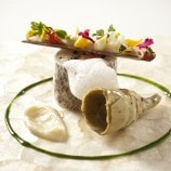Maryland Striped Bass with Razor Clam, Artichoke and Lemon Foam