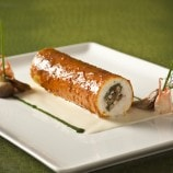 Pacific Halibut Roulade with Maine Lobster and Spinach