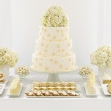 All White Wedding Dessert Buffet