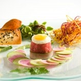 Tuna Tartar with Spring Vegetable and Haystack Potato