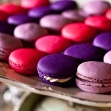 purple and pink macaroons