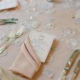 Pink folded napkin