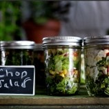 Chop salad in mason jars