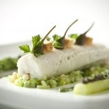Turbot with Green Asparagus, Caper Berries and American Sturgeon Caviar