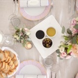 Pink Table Setting at River Farm