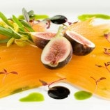 Saratoga Melon with Summer Figs and Port Wine Syrup