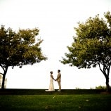 Bride and Groom at Private Home
