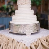 ruffled wedding cake full image