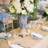 Burlap table linen