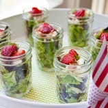 Strawberry Stilton Salad in Mason Jars